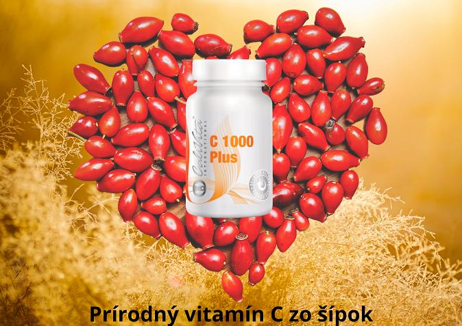 vitamin C, prirodny, s postupnym uvoľňovaním, zo šípok